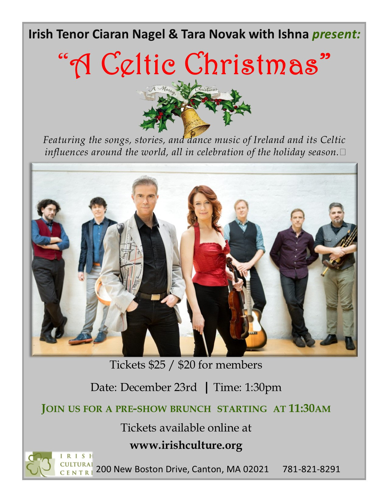 Irish Cultural Centre of New England A Celtic Christmas